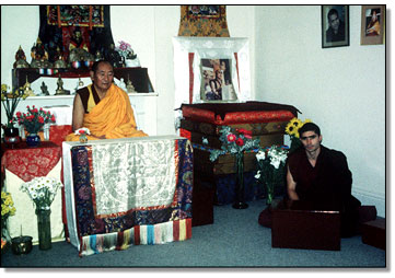 Lama Teaching.