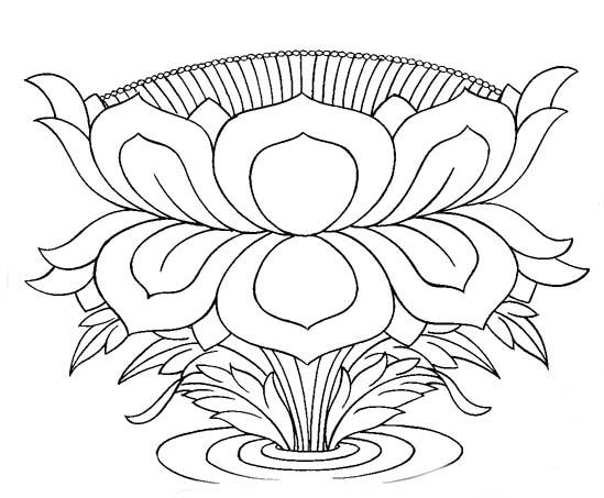 http://buddhanet.net/lineart/symbols/images/1lotus01.jpg